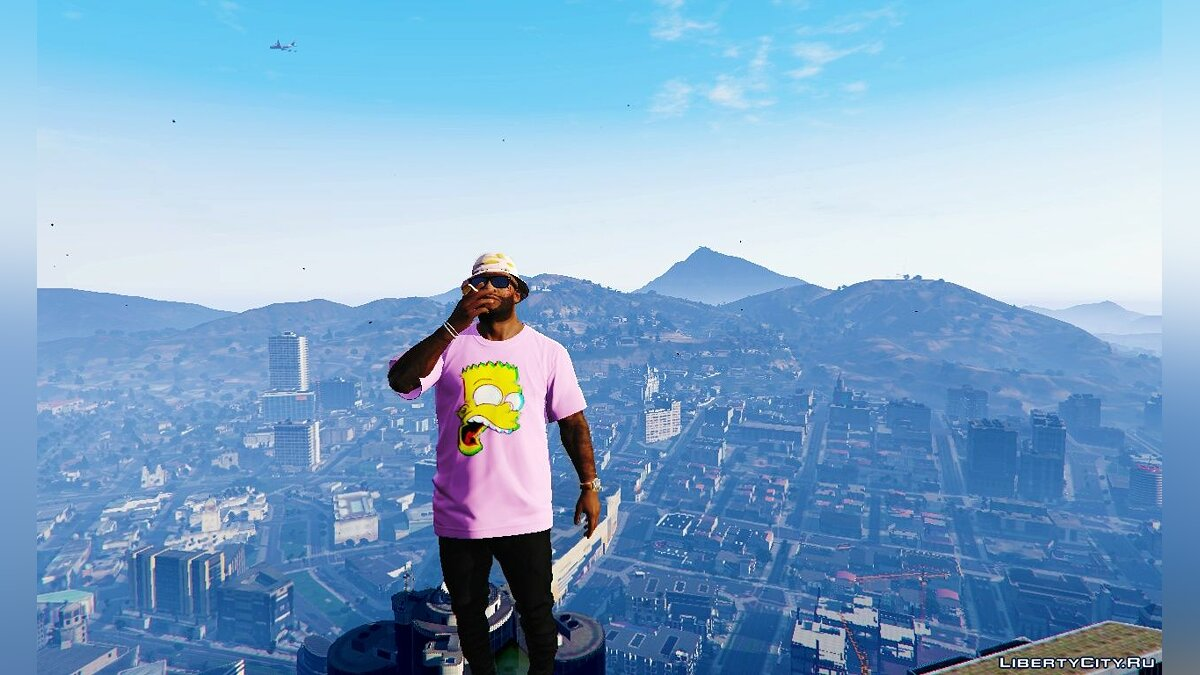 Pullovers and T-shirts Bart vaporwave t-shirt for GTA 5