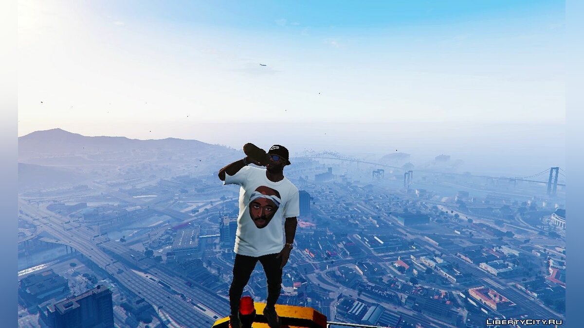 Pullovers and T-shirts 2Pac T-Shirt for GTA 5