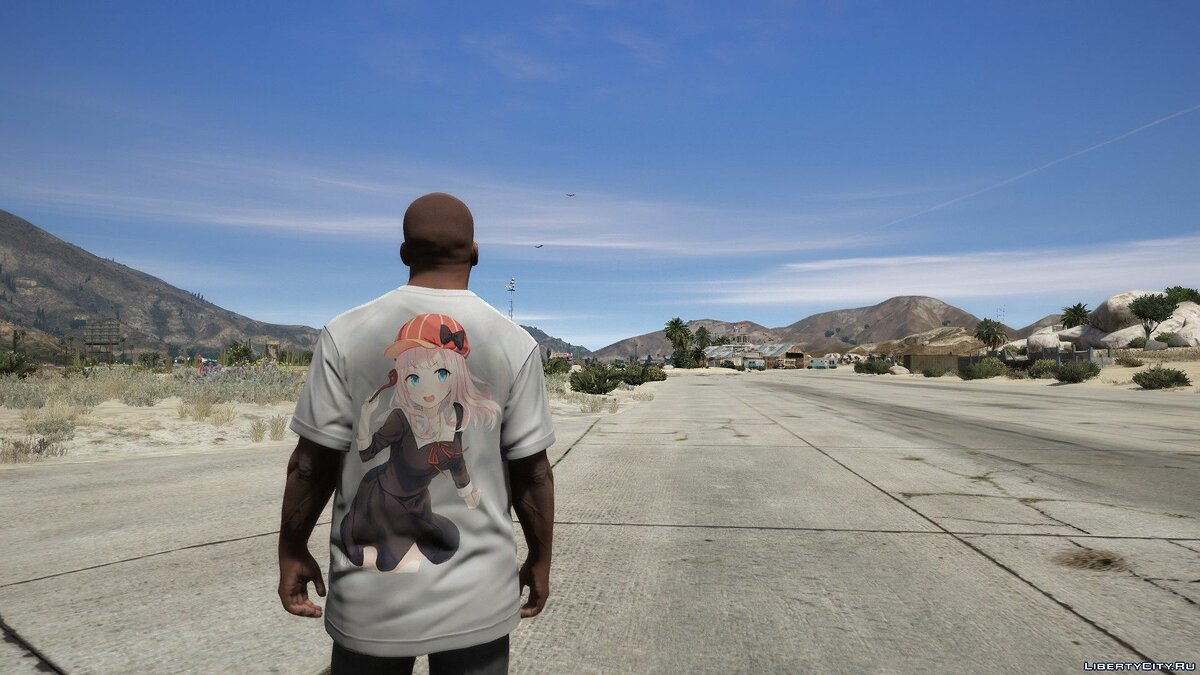 Pullovers and T-shirts T-shirt for Franklin with Chika Fujiwara print for GTA 5