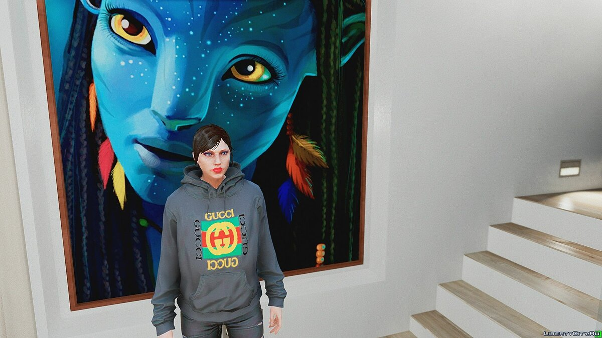 Pullovers and T-shirts Gucci Hoodies for Women for GTA 5