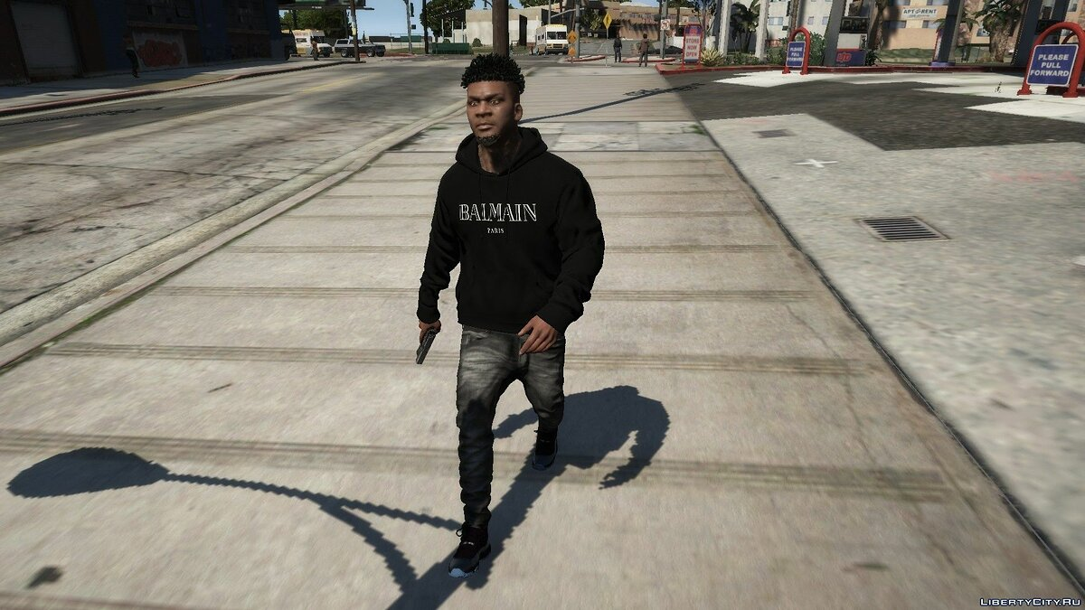 Pullovers and T-shirts Худи Balmain for GTA 5