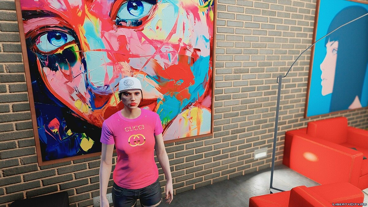 Pullovers and T-shirts T-Shirts for Women for GTA 5