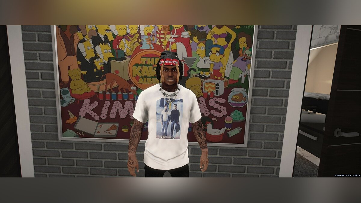 Pullovers and T-shirts Palace T-Shirts for GTA 5