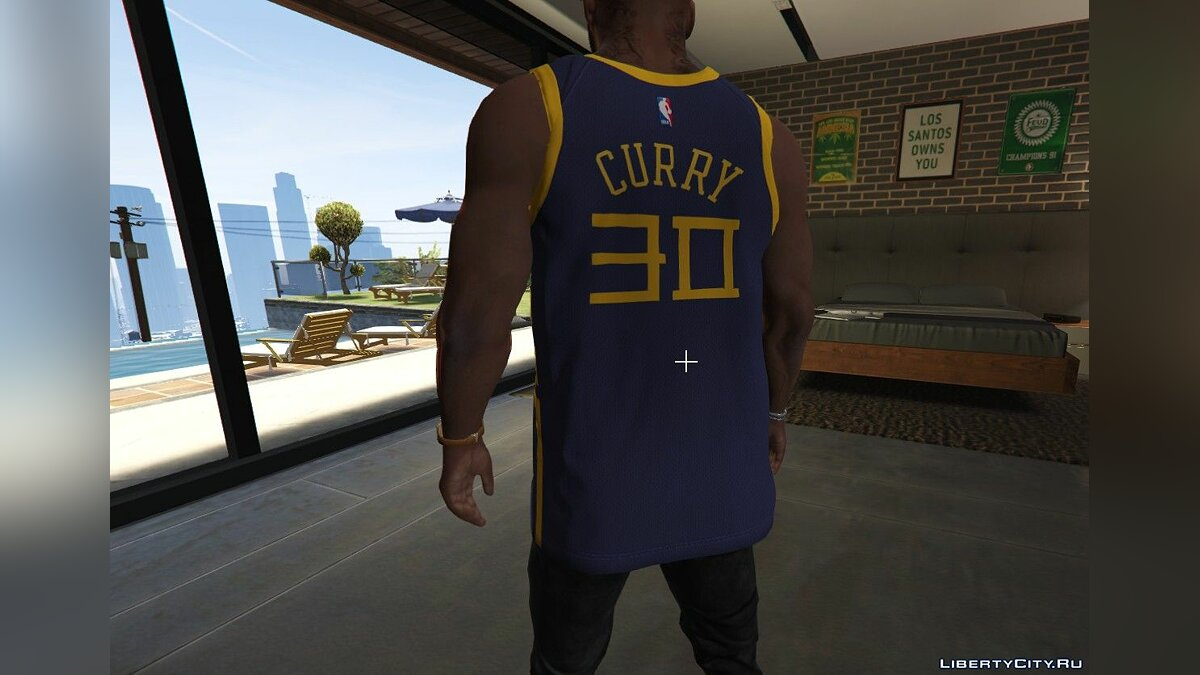 Pullovers and T-shirts Shirt with the logo of the Golden State Warriors for GTA 5
