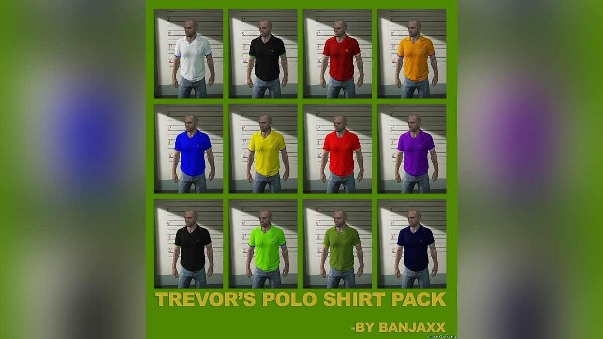 Pullovers and T-shirts Trevor T-shirt Collection for GTA 5