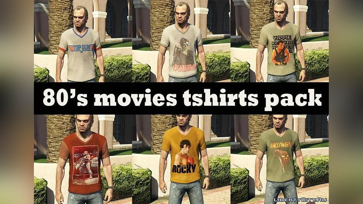Pullovers and T-shirts 80s movie t-shirts for Trevor for GTA 5