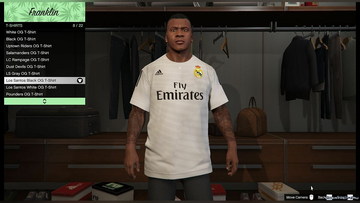 Real Madrid T-Shirt for Franklin for GTA 5 - Картинка #1
