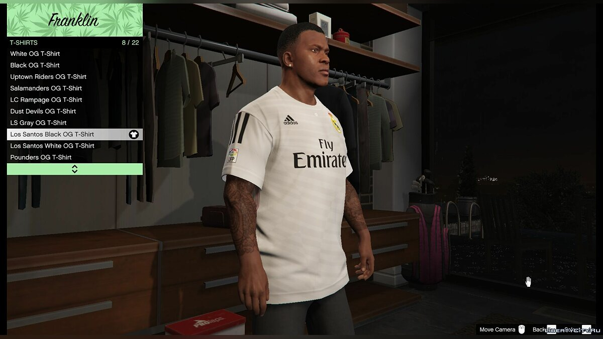 Real Madrid T-Shirt for Franklin for GTA 5 - Картинка #2