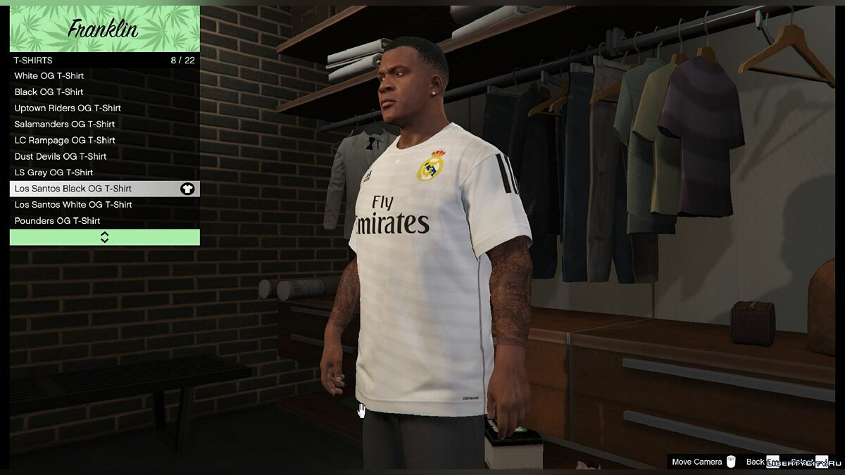 Real Madrid T-Shirt for Franklin for GTA 5 - Картинка #3