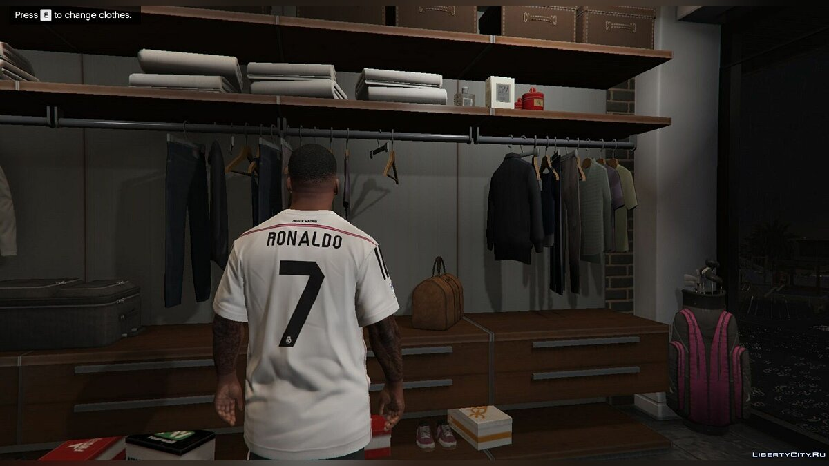 Real Madrid T-Shirt for Franklin for GTA 5 - Картинка #4