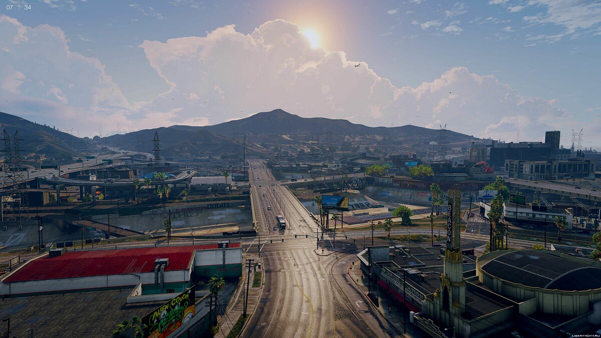 ENB mod The Pinnacle of V - World Enhancement Project v1.8.1 for GTA 5