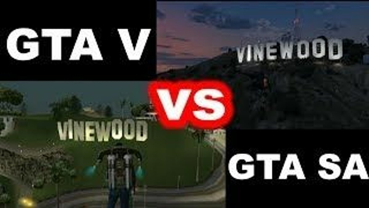 Fan video GTA V vs. GTA San Andreas - Comparison for GTA 5