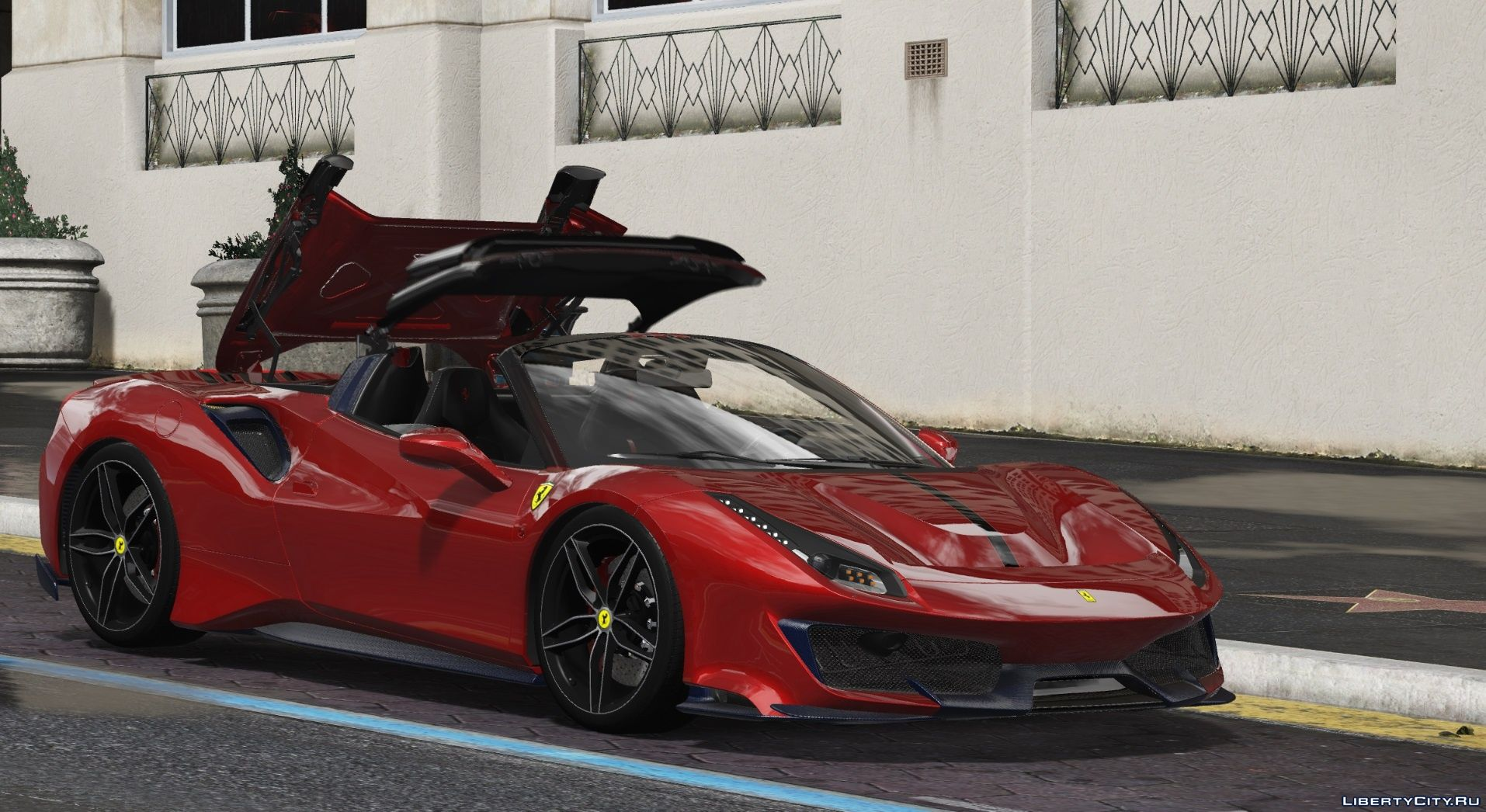 2019 Ferrari 488 Pista Spider Animated Roof Add On Template For Gta 5