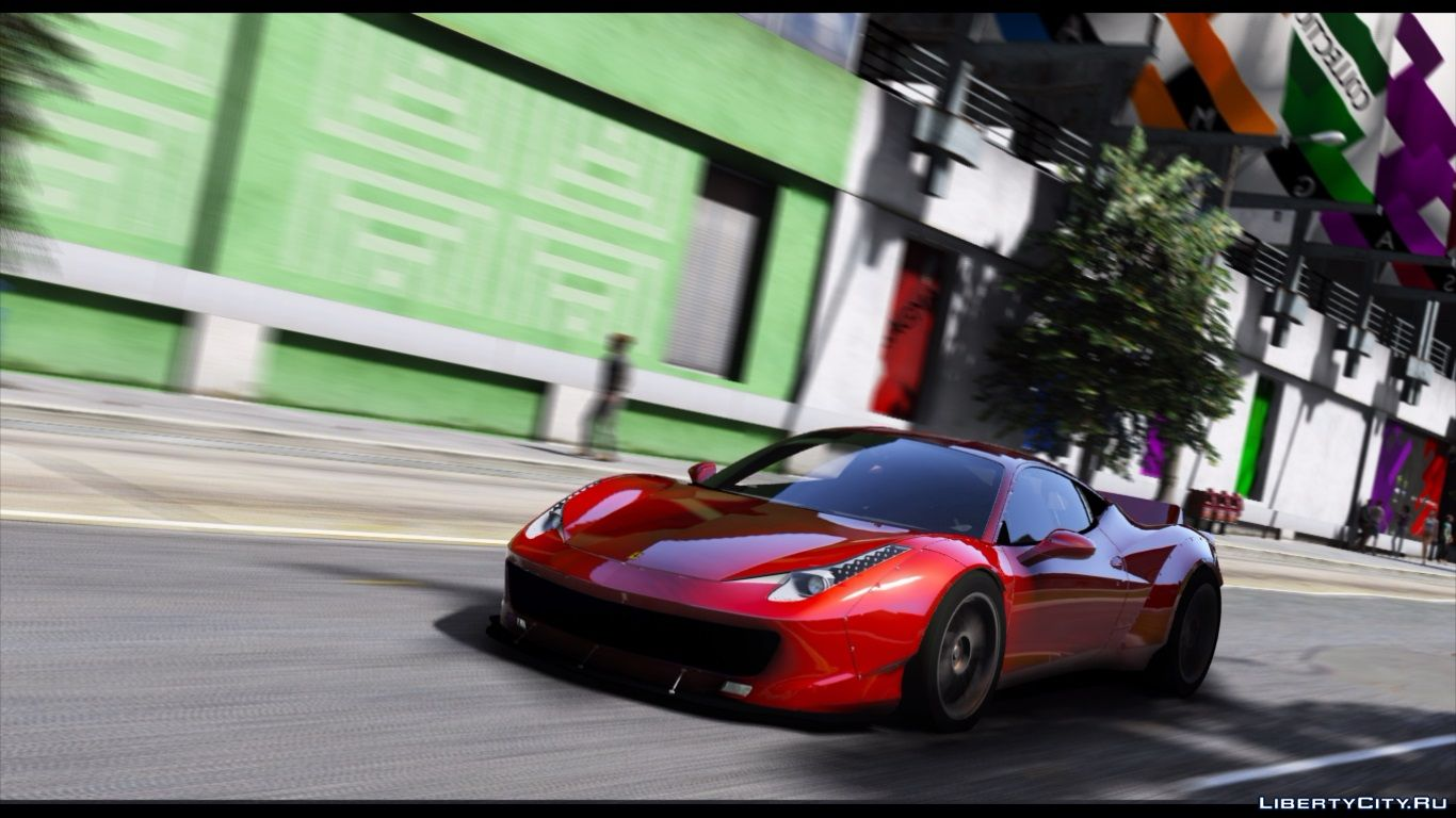 2010 Ferrari 458 Italia Liberty Walk Add On Replace 1 0 For Gta 5