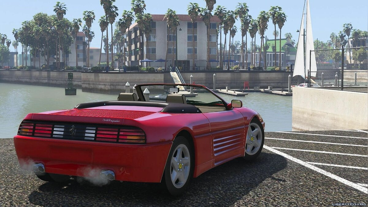 Ferrari car 1993 Ferrari 348 Spider [Add-On] 2.0 for GTA 5