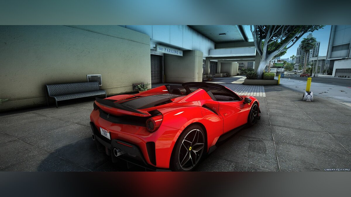 Ferrari car Ferrari Pista 488 Spider 2019 [Add-On | Extras | Wheels | Animated Roof | Template | LODs] 1.1 for GTA 5