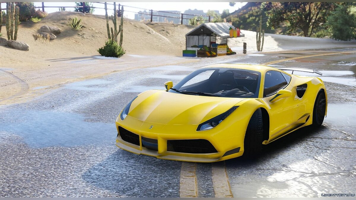 Ferrari car Ferrari 488 Novitec N-Largo [Add-On] 1.0 for GTA 5