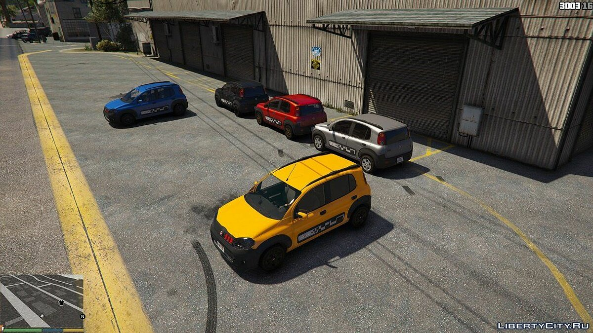 Fiat car Fiat Uno 2014 Sport 1.0 for GTA 5
