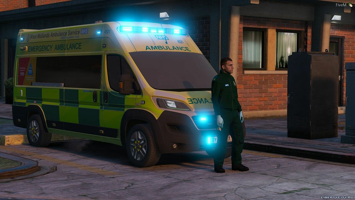 Fiat car Fiat Ducato - Ambulance West Midlands for GTA 5