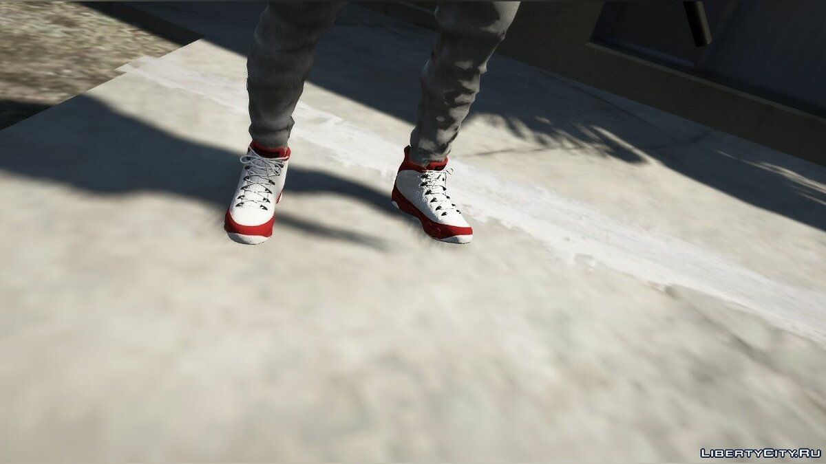 Boots Jordan 9 Gym Red for GTA 5