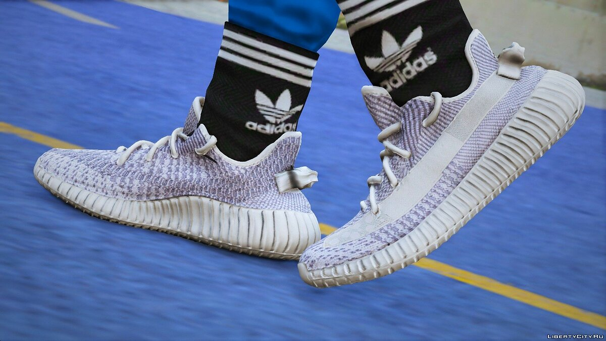 Boots Yeezy 350 V2 Static Texture (Gucci / Feet / White Sock) for GTA 5