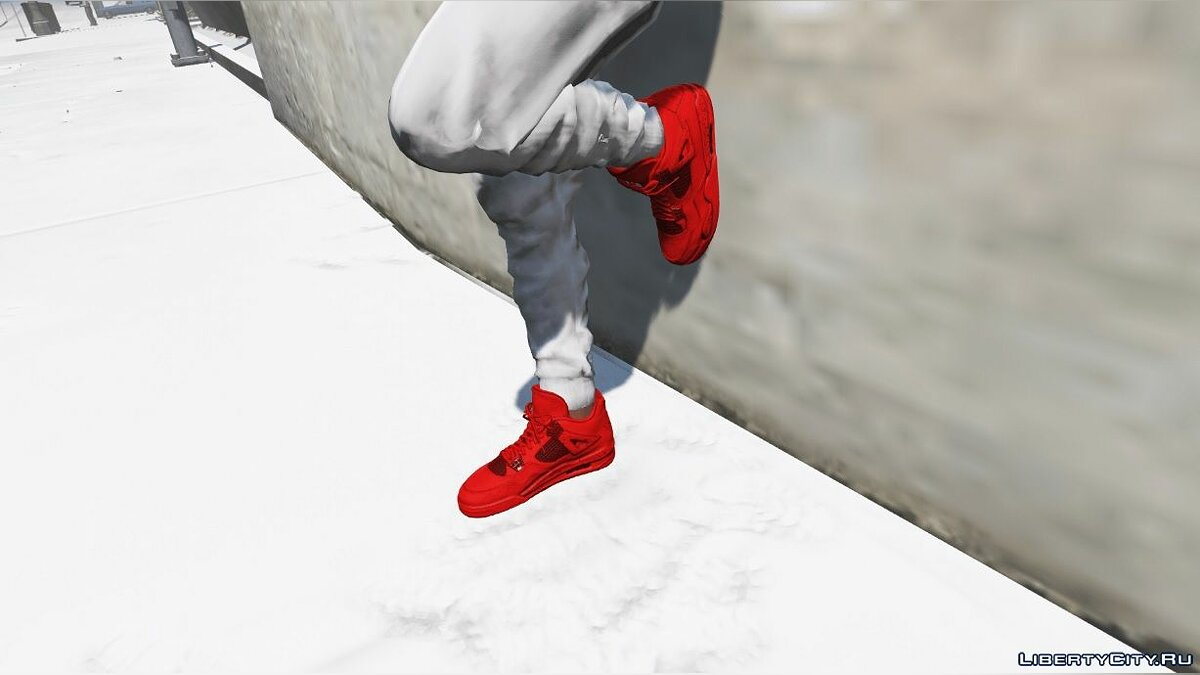 Boots Jordan 4 All Red for GTA 5