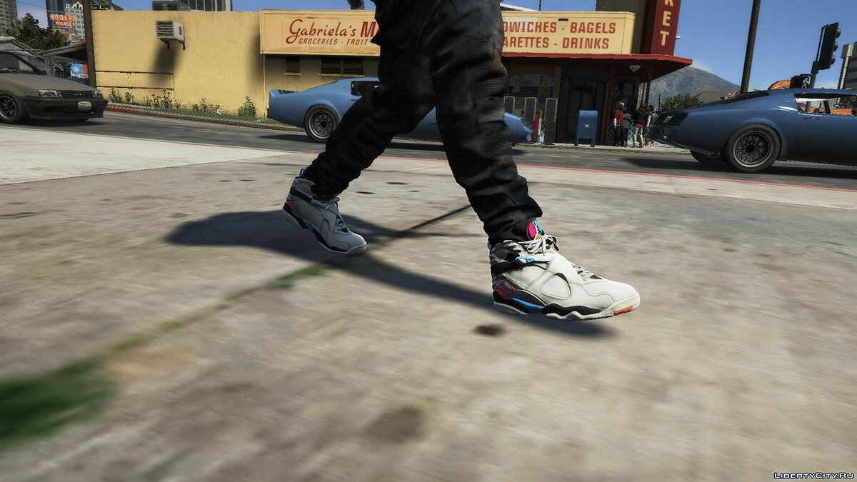 Boots South Beach Jordan 8's for GTA 5