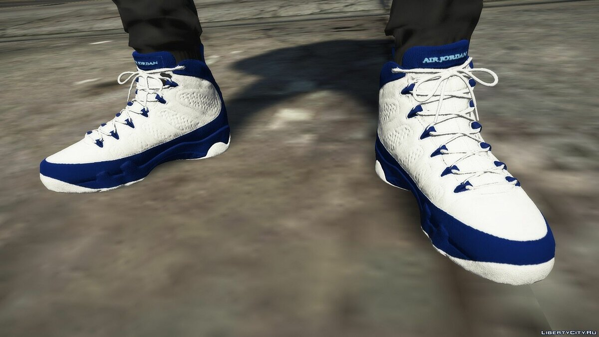 Boots Pearl Blue Jordan 9's for GTA 5