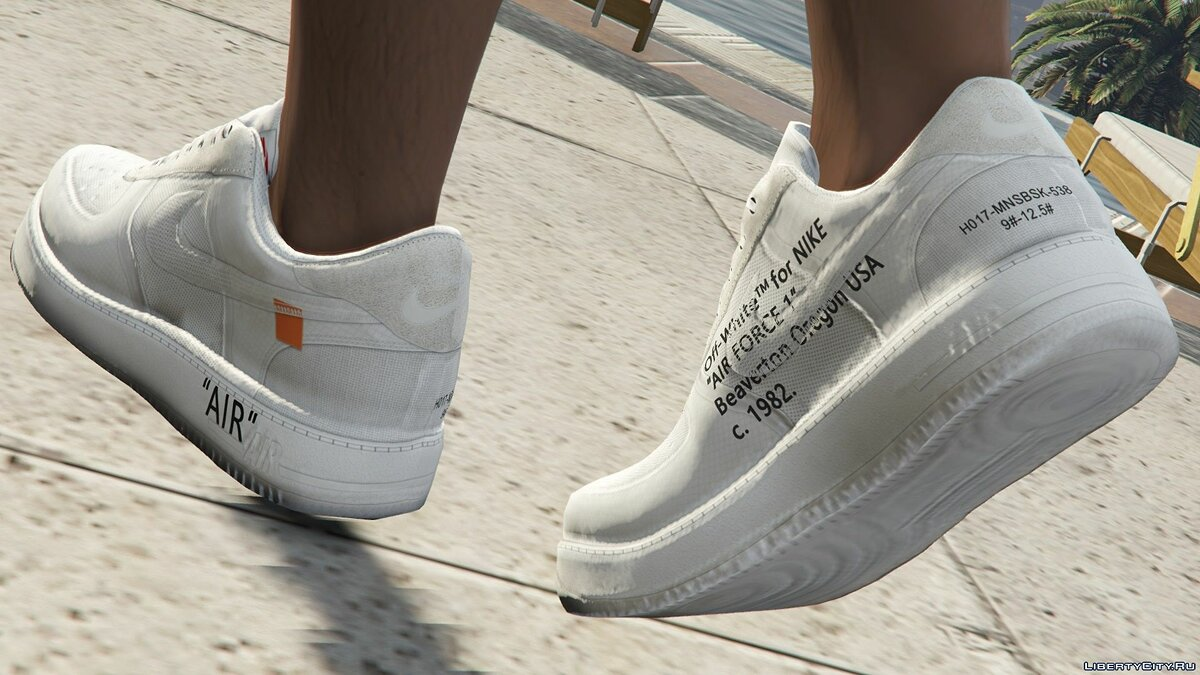 Boots Nike AF1 Off-White for GTA 5