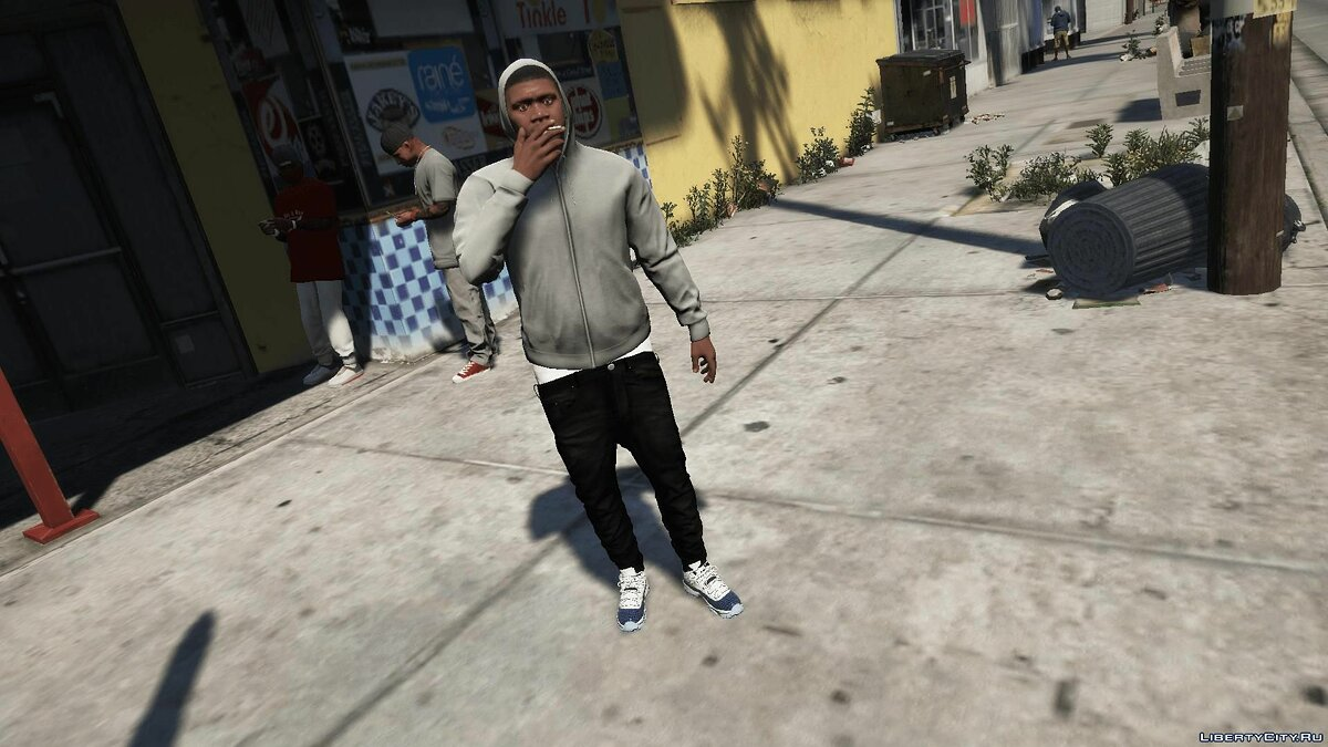 Boots Jordan 11 Low Snakeskin Navy for GTA 5