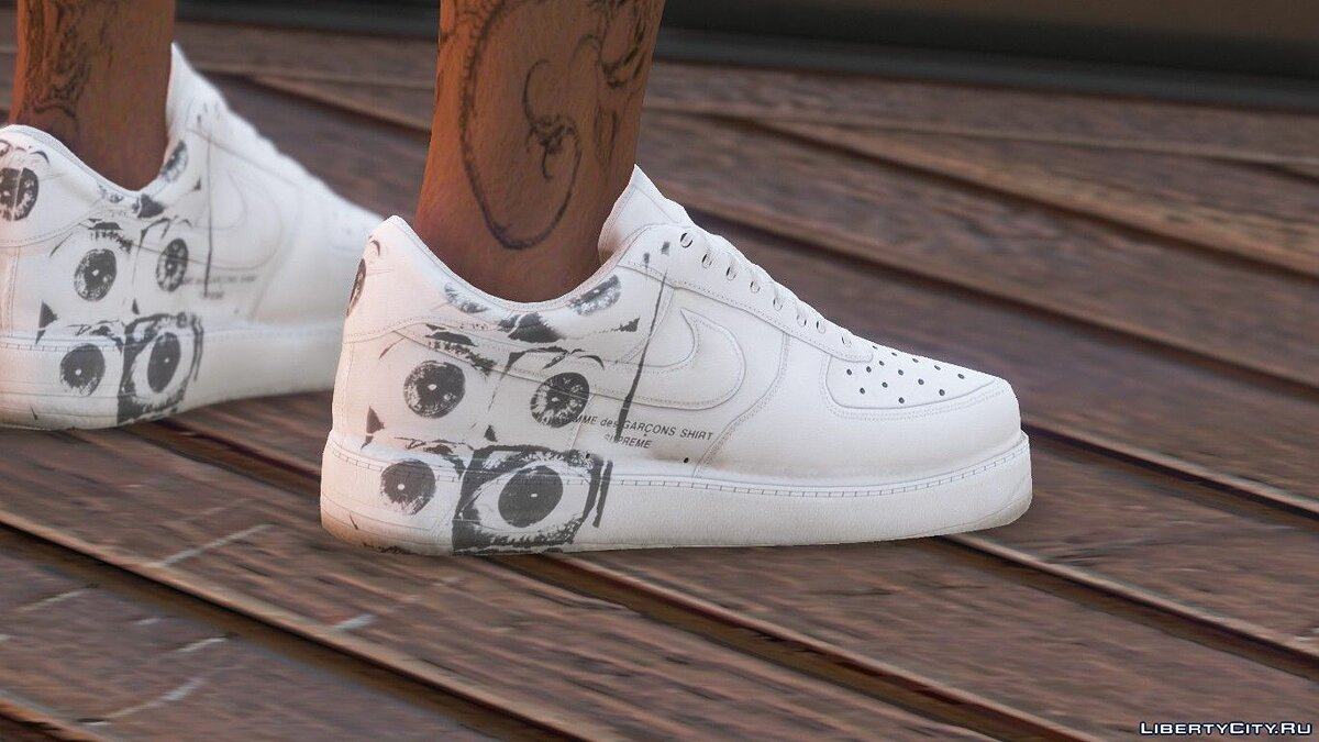 Boots White sneakers Air Force 1 for GTA 5