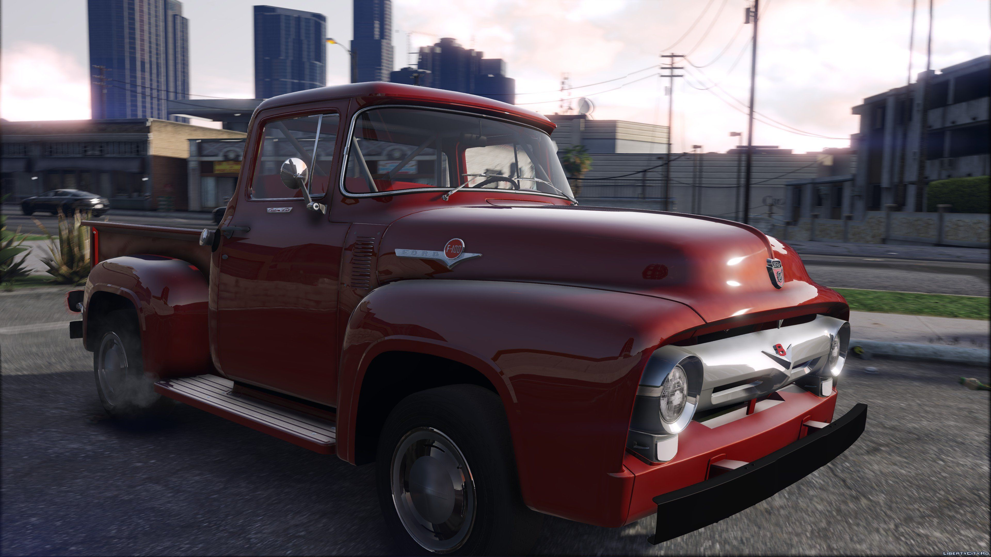 56 Ford F100 Fh3 Addon Animated Engine Exhaust 13 For Gta 5