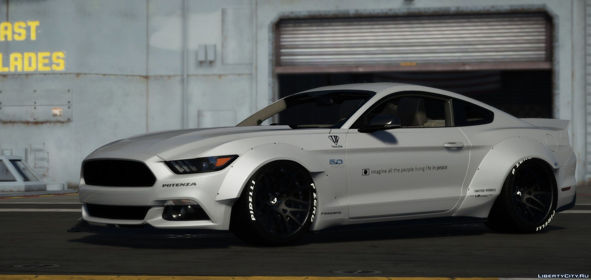 2015 Ford Mustang Gt Libertywalk Replace Livery For Gta 5
