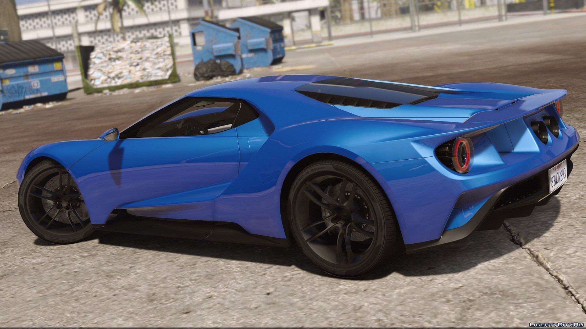 Ford Gt Add On Replace Template   For Gta