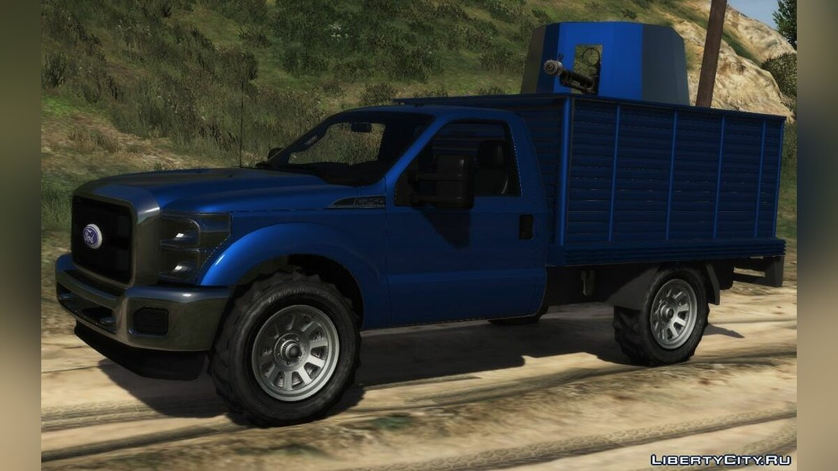 Ford car Ford F-250 with turret for GTA 5