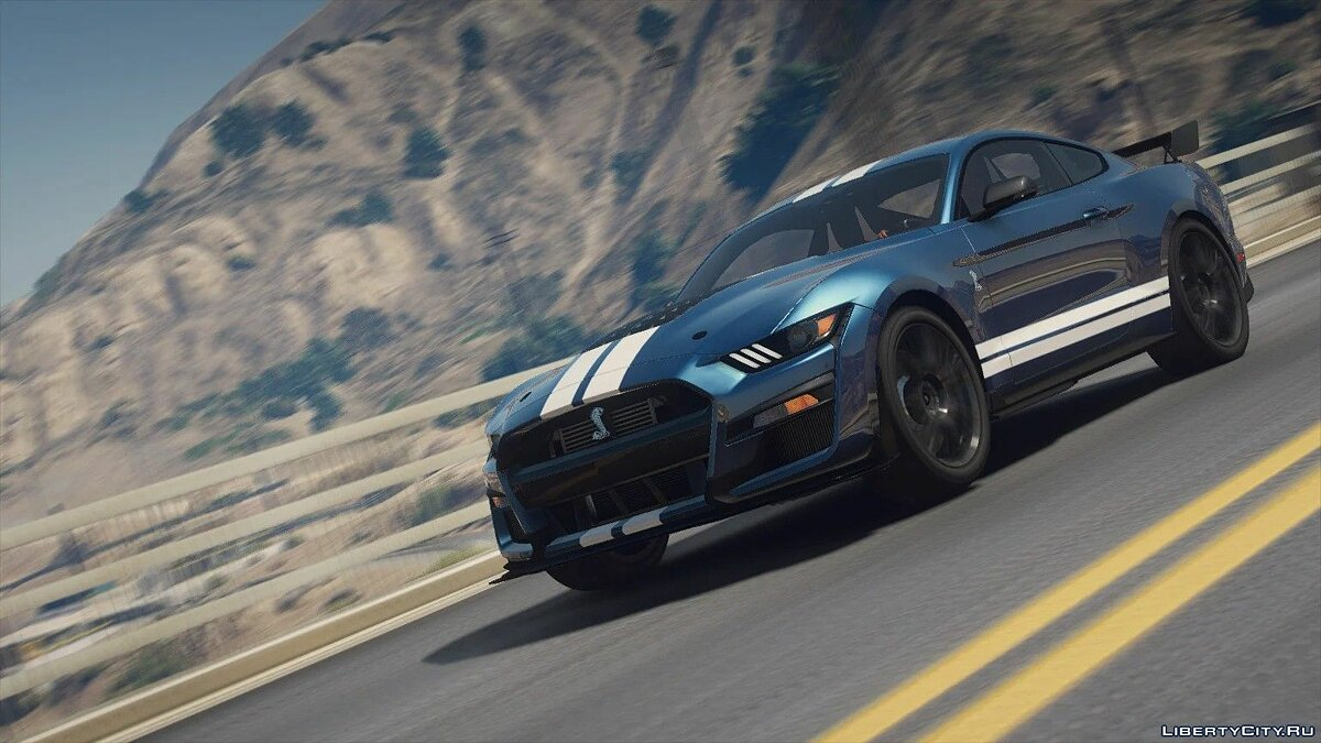 Ford car Ford Mustang Shelby GT500 2020 [Add-On | LODs | Template | Sound] 1.0 for GTA 5