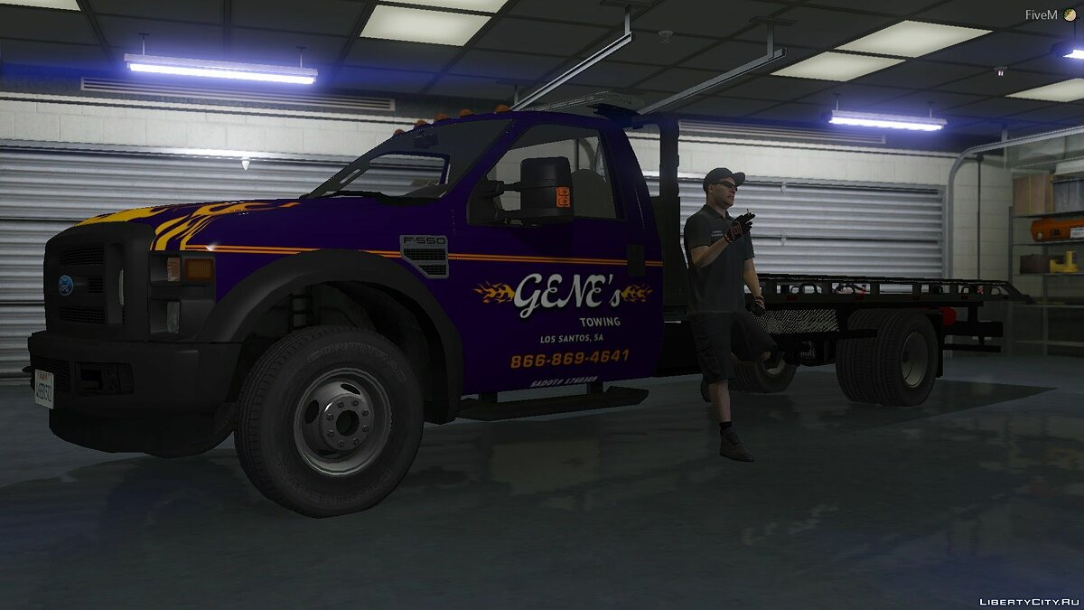 Ford car 2008 Ford F550 Flatbed Tow Truck 1.0 for GTA 5