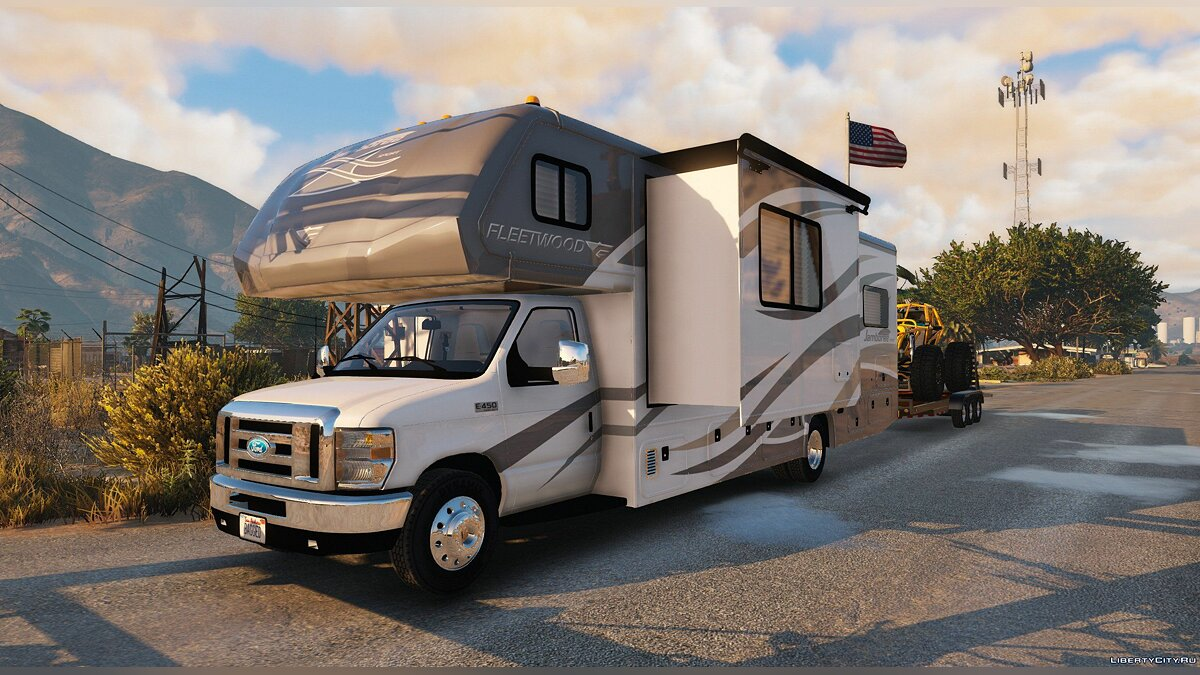 Ford car House on wheels for GTA 5