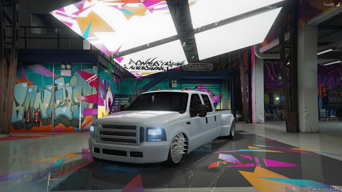 2000 Ford F350 Bagged [FIVEM + REPLACE] for GTA 5