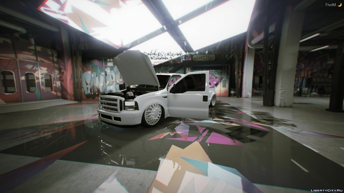 2000 Ford F350 Bagged [FIVEM + REPLACE] for GTA 5 - screenshot #2