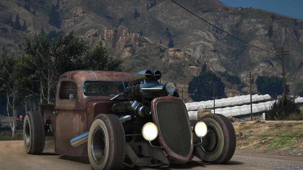 Ford car Ford Pickup Rat Rod 1936 [Add-On | LODs | Extras | Liveries] 1.0 for GTA 5