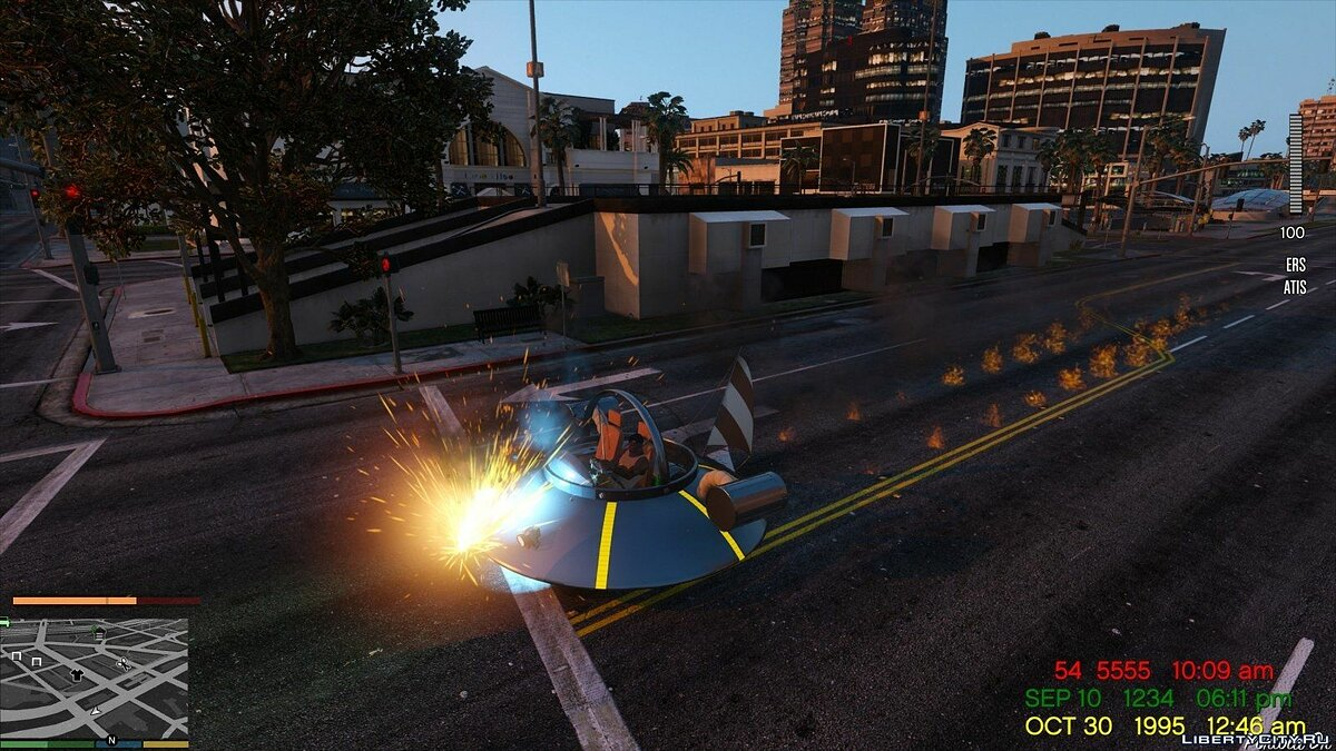 Funny car Rick and Morty Spaceship for GTA 5