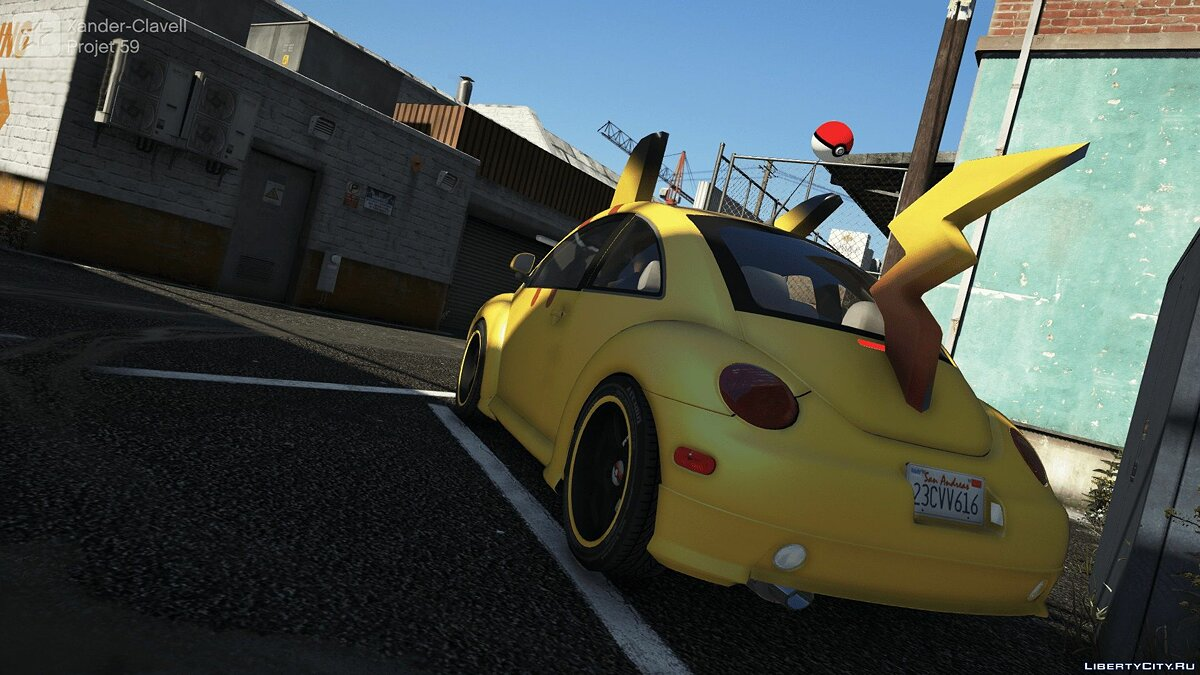 Funny car Pikamobile (Add-on / Replace) 1.0 for GTA 5