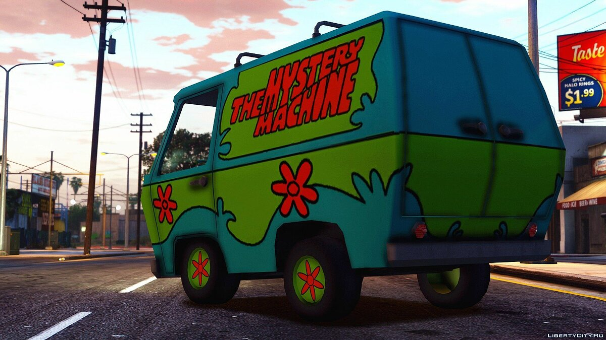 Funny car The Mystery Machine [ADDON-REPLACE] 1.0 for GTA 5