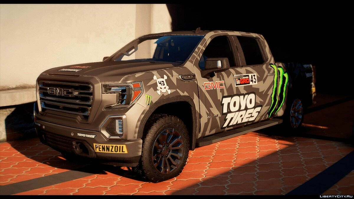 GMC car 2019 GMC Sierra AT4 [Add-on | FiveM | Templated | 21 Liveries] 1.0 for GTA 5