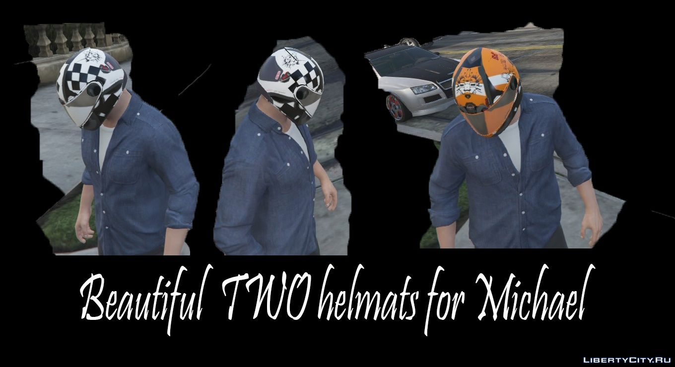 Two beautiful helmets for Michael for GTA 5