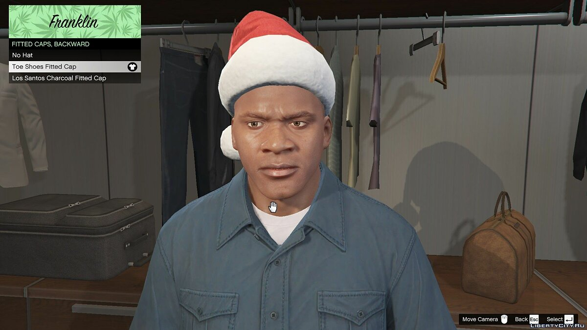 Hats Christmas hat for Franklin for GTA 5