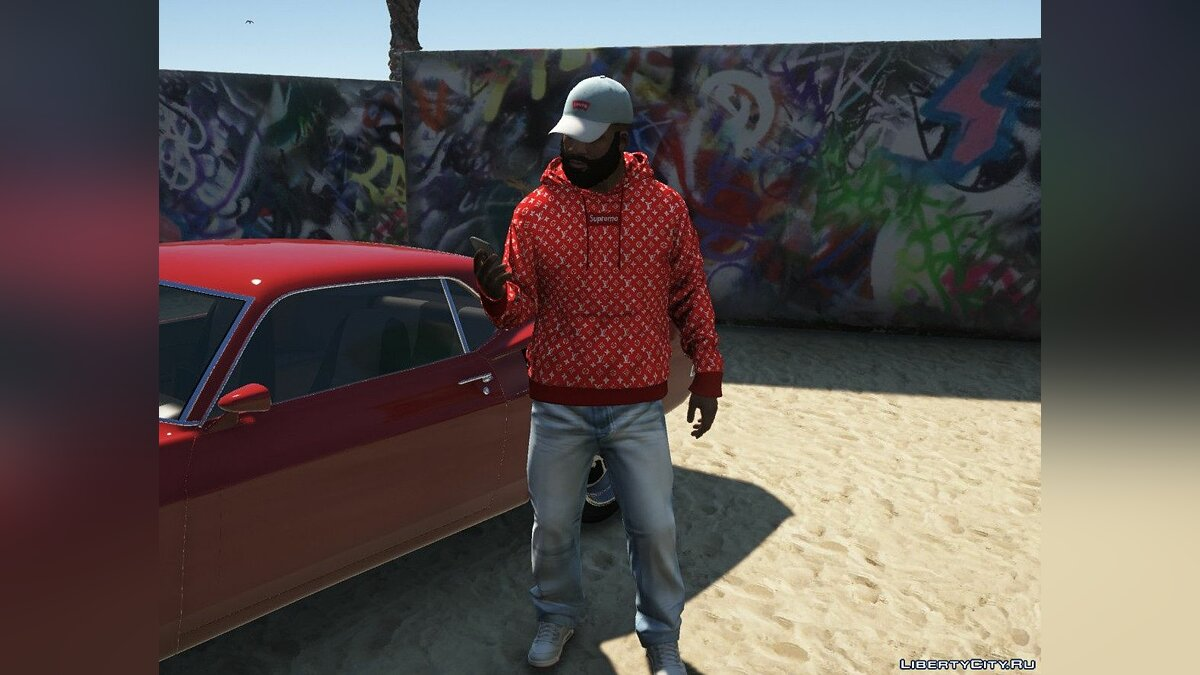 Hats Levi's Cap for Franklin 1.0 for GTA 5