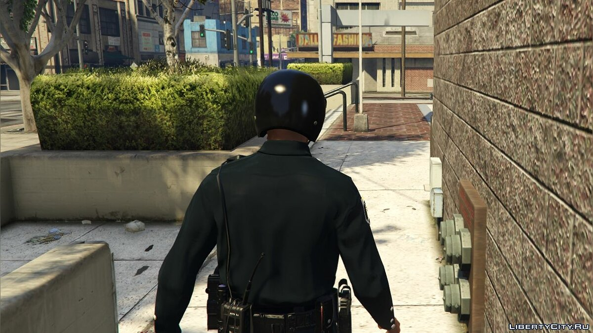 Hats Black patrol helmet for GTA 5