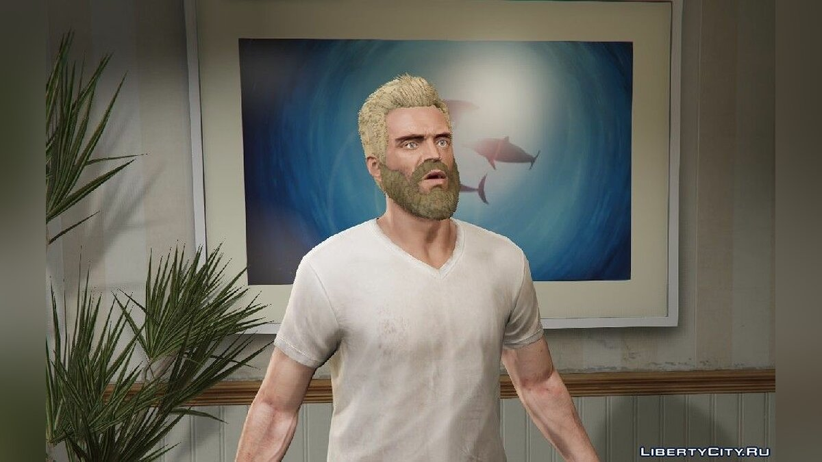 Haircut and beard Pack of new hairstyles, face and beard textures for Trevor for GTA 5